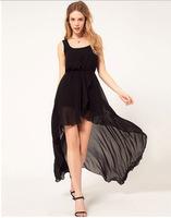 Women's chiffon  veil irregular dress tails one piece address free shipping