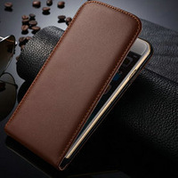 Genuine Leather Case For iPhone 6 Plus 5.5 inch New Arrival Flip Leather Case For iPhone 6 Plus ,Smooth Leather Flip Cover