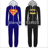 Animal Cosplay cartoon superman batman Cos Pajamas Adult Women Men Unisex Flannel Onesie Party Costumes Halloween Dresses