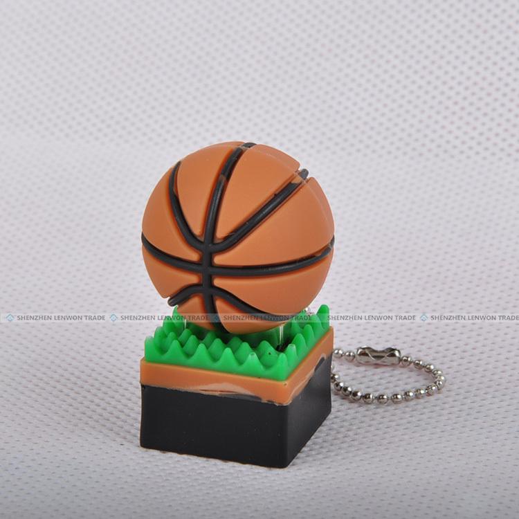 New arrivel! Cartoon basketball USB 2.0 Flash Disk 2GB 4GB 8GB 16GB 32GB USB Thumb Stick pen/gift free shipping(China (Mainland))