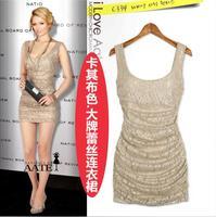 New   women's fashion sexy slim hip  lace one-piece dress party dress evening dress M-XL