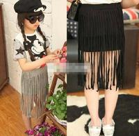 RQQ retail ! girl's fashion cotton  fringe skirt baby girls tutu skirt  petty skirt size for 2-8  years