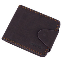 2014 New Brand men's Purse a short section of frosted Wallet Purse fashion multi screens Genuine Leather Wallet