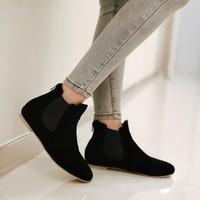 plus size Eur 33-43 women winter autumn boots female flats ladies shoes woman fashion girls ankle booties SX141196