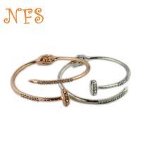 Punk nails personality bracelet, female hand jewelry sparkling gems, environmental protection alloy bracelets, famous brands