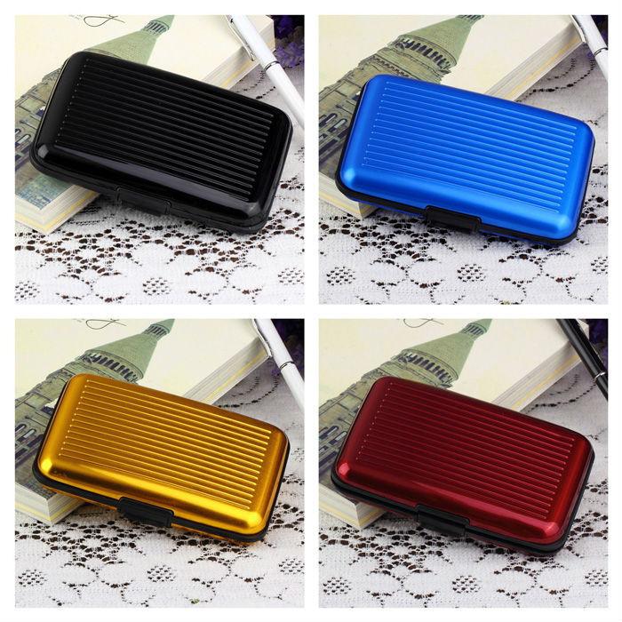 Aluminum Metal Pocket Business ID Credit Card Wallet Holder Waterproof Case Box(China (Mainland))