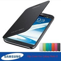 Original Style Flip Case For Galaxy Note 2 Galaxy Note II Samsung N7100 GT-n7100 Cover With NFC,+Screen Protector,Free Shipping
