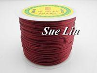 100yds 2mm Garnet Rattail Satin Cord Chinese Knot Beading Cord: Nylon NCN6S