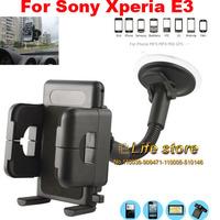 PVC Holder Car Mount Holder Sunction Window Mobile Phone Holder +Vent Clip For Sony Xperia E3 Dual D2212 D2203 D2206
