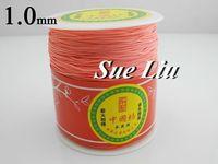 1mm Coral Pink Chinese Knot Beading 100% Nylon Shamballa Cord (300M/328yds Spool) NCNB