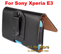 Belt Clip Case Mobile Phone Case Leather Pouch PU Case  For Sony Xperia E3 Dual D2212 D2203 D2206