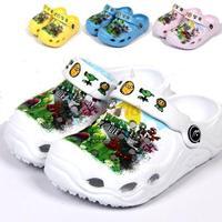 2014 New Summer Zombie Children Boy Beach ShoeS Sandal Brand Flip Flop Cheap Sandals Slippers For Kids Girls Boys Size 24-29