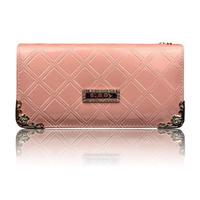 2014 new Women Wallet long paragraph PU Purse Clutch fashion plaid zipper Wallet