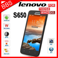 """Original Lenovo S650 Supports Russian Android 4.2 MTK6582 1.3MHz Quad Core 3G/WCDMA GPS Cell Phone4.7"""" IPS 1GB RAM 8GB ROM"""