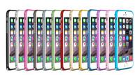 1pcs/lot Free Shipping Luxury Arc Edge Aluminium Metal Bumper Hippocampal Buckle Case For iphone 6 Plus 5.5 inch