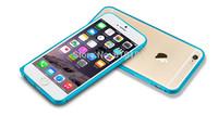 50pcs/lot Free Shipping Luxury Arc Edge Aluminium Metal Bumper Hippocampal Buckle Case For iphone 6 Plus 5.5 inch