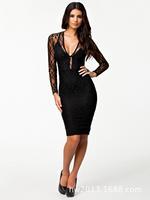 Newest  transparent lace suspenders sexy dress Slim   club wear   sexy underwear factory wholesale -045