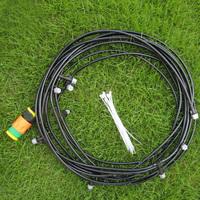 10m/33' Outdoor Sprinkler Garden Patio Misting Cooling System 10 Plastic Mist Nozzle