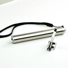 Round Moon Shape Light Aluminium Alloy Mini Flashlight XML Cree Led Flashlight Torch High Power Led keychain With portable tail(China (Mainland))