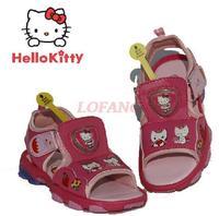 Girls's Sandals 2014 New Summer Brand Designer Children's Sandal For Kids Girl Hello Kitty Flashing Light Beach Shoe