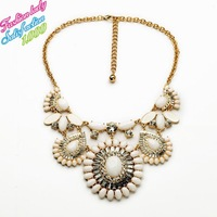 New Arrival Fashion Statement Choker Crystal Gold Chain Necklaces & Pendants Good Quality Vintage Elegant Wholesale Jewelry 3890