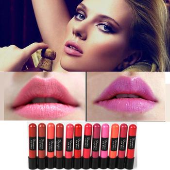 12 цвета / 1 лот матовый водонепроницаемый жидкий макияж губ палку помада блеск для губ высокое качество ME70