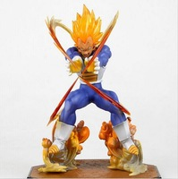 Hot Sale 15CM Anime Dragon Ball Super Saiyan Vegeta Battle State Flash PVC Action Figure Collectible Model Toy Free Shipping