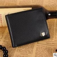 2014 new Men Wallet Trendy diamond pattern Purse leaf pattern Purse fashion short Wallet