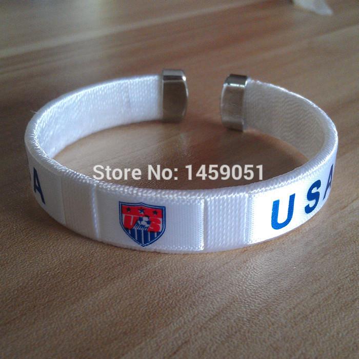wholesale PVC football soccer team URUGUAY Mexico Colombia USA national team bangles bracelet(China (Mainland))