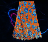 Item No.12--2, beautiful african lace fabric for lady dress, hot sale african water soluble lace fabric dress free shipping