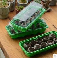 Free shipping,3pcs 10hole nursery tray+30pcs 38cm jiffy block,put seed,bonsai,flower.nursery plastic seedling tray,grow planting