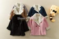 2014 Boys and girls faux suede cotton-padded jacket winter jacket coat kids outerwear winter coat fake fur jacket kids jacket