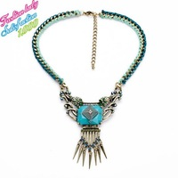 Luxury Fashion Statement Good quality new arrival exaggerated necklaces & pendant ornate long vintage wholesale jewelry 3892