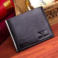 2014 Fashion Brand Men Purses Men's PU leather short Wallet High-end Design Men Wallet