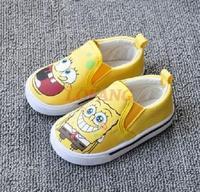 2014 New Summer Brand Toddler Children Shoes For Kids Boy Spongebob Canvas Children's Sneakers Kid Boys First Walkers