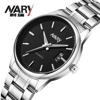 20pcs a lot Business Men Black/White Dial Stainless Band  Date Japan Quartz Movement Wrist Watch Nice Gift Wholesale  Price 6115