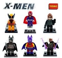 Decool Building Blocks Super Heroes The Avengers Action figures Minifigures Toys Magneto Storm Catwoman X-Man Bataman Figures