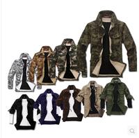 2014 New arrival Korean style Men's cargo jackets slim fashion,9 color 4 size  Autumn Winter Coats For Men Gaga Deal