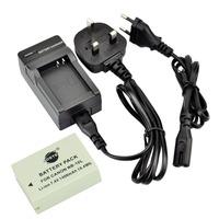 DSTE NB-10L Li-ion Battery Pack and UK & EU Plug Charger for Canon PowerShot G1 X, G15, G16, SX40 HS, SX50 HS