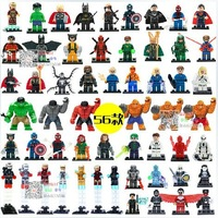 Decool Building Blocks Super Heroes The Anengers Action figures Minifigures toys Iron man Fantastic Four Gig Thing Hulk Buster