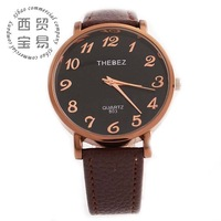 Hot wholesale new 2014 elegant ladies' business stainless steel Quartz waterproof leather band wrist watch TBS803-4