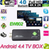New EU/US Plug HDMI MK809II Bluetooth Android 4.4 TV Dongle Stick Media Player Mini PC Dual Core RK3066 1G/8G Wifi XBMC