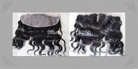 "Free Shipping 12Inch (13""X4"") Brazilian Virgin Hair Malaysian Curl Lace Frontal Bleach Knots"