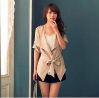 2014 New Fashion Winter Women Slim Blazer Coat Casual Jackets V-NeckOne Button Suit OL Outerwear Phnom Penh large lapel jacket