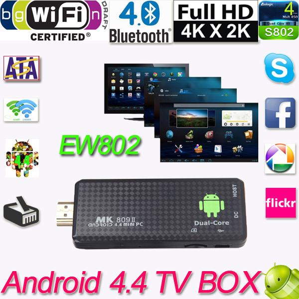 TV Dongle Stick Media Player TV Box Mini PC Dual Core RK3066 Wifi XBMC HDMI MK809II Bluetooth Android Dongle HDMI TV Stick(China (Mainland))
