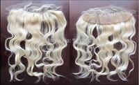 "Free Shipping 16Inch (13""X4"") Malaysian Virgin Hair Body Wave Lace Frontal"