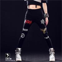 DJ-25 Jogging women Punk Rock Hip hop pants Slim Ds Jazz dance pants women Joggers Jogging femme Sports trousers Hip hop women