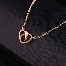 Korean Fashion Rose Gold Monogram Necklace Brand Collier Femme Pendentif Bijoux jewlery Stainless Steel Floating Locket