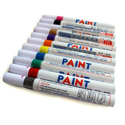 (Min order is $10) DIY handmade photo album multicolour paint pen touch up pen photo album doodle pen married signature pen(China (Mainland))
