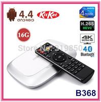 Quad Core B368 RK3288 Android TV BOX 1.8GHz 2G/16G H.265 XBMC HDMI FHD 4K*2K WiFi RJ45 OTG SPDIF Android 4.4 Smart TV Mini pc